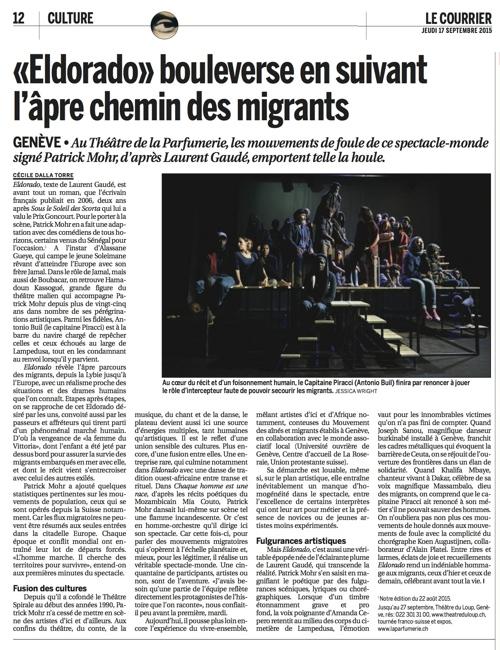 Critique de Cécile dalla Torre – Le Courrier